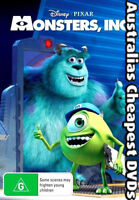 Monsters, Inc. DVD NEW, FREE POSTAGE WITHIN AUSTRALIA REGION 4