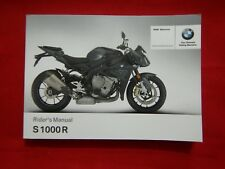 GENUINE 2016 2017 BMW S 1000 R RIDER'S OWNERS MANUAL 01 40 8 387 921