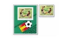 NIC81022 Football 9 stamps and block