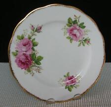"AMERICAN BEAUTY Royal Albert Bone China 8 1/8"" SALAD PLATE (s) England Roses"