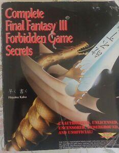 Complete Final Fantasy III Forbidden Game Secrets Super Nintendo Strategy Guide