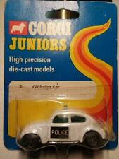 Corgi Juniors Whizzwheels Volkswagen VW 1300 Beetle Bug White Police Car Britain