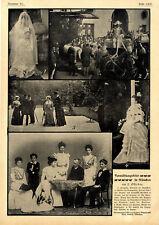 Prinzessin Elisabeth im Brautkleid Vermählungsfeier in München am 2.Okt.1900