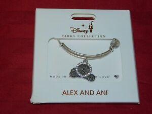 Disney Park Alex & Ani Cinderella Coach Bracelet Jeweled Wedding Coach Silver