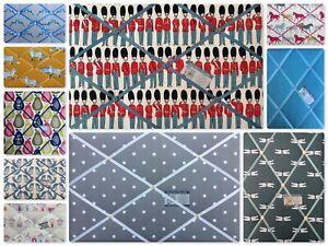 Custom Made Pin/Memo/Notice/Memory Board designer fabrics 8 sizes made to order