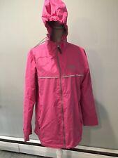 Black Dog Marthas Vineyard Pink Hooded Rain Coat Jacket Mesh Lined Size Large