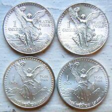 MEXICO KM# 494.4, 1983,1985,1993,1994 LIBERTAD ONZA 1 OZ SILVER BULLION COINS