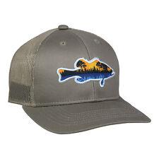 Bass Fishing Hat Structured Mid Profile Khaki New Cap Meshback Snapback