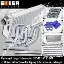 LARGE INTERCOOLER & PIPING For Nissan 240SX 350Z Subaru GT-R Corrolla Supra