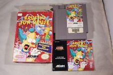 Krusty's Fun House (Nintendo NES) Complete in Box FAIR