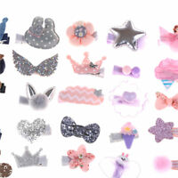 1 Set Hairpin Baby Girl Hair Clip Bow Flower Mini Barrettes Star Kids Infant HOT