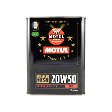 Motul Classic Oil 20W-50 After 1950 20W50 Vintage Veteran Engine 2 Litres 2L