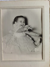 Baby Girl Laughing Photograph in Cardboard Folder 1940's
