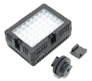 New JJC LED-48D Micro LED Light for universal DSLR Camera with hot shoe adapter