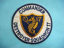 VIETNAM WAR PATCH, US NAVY COMMANDER DESTROYER SQUADRON 17