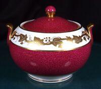 Wedgwood Whitehall Powder Ruby Lidded Sugar Bowl - W3994 - 1st Quality