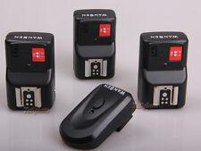WANSEN PT-04 4 Channels Wireless Flash Trigger+3 Receivers Yongnuo Canon Nikon