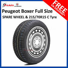 Peugeot Boxer  2006 - 2017  Full Size Spare Wheel and 215/70 R15 8PLY Tyre