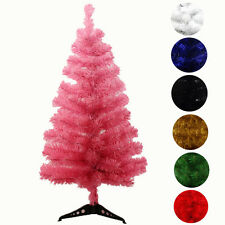 Christmas Artificial White Red Green Black Christmas Tree 2FT 3FT 7 Colors~