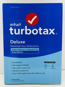Intuit TurboTax Deluxe 2020 Federal State Return Efile for Windows/Mac TURBO TAX