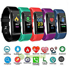 Blood Pressure Oxygen Heart Rate Fitness Tracker Smart Bracelet Watch Wristband