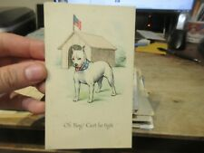 Other Old Postcard Animals American Bulldog Dog Puppy House Fighter Pup Collar