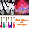 50-200Pcs LED Balloons Light Up PARTY Decoration Wedding Kids Birthday Decor US