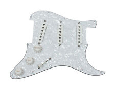 920D Custom Loaded Strat Pickguard White w/ DiMarzio HS-3 HS-4