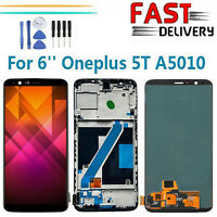 For Oneplus 5T A5010 6'' LCD Display Touch Screen Digitizer Assembly w/ Frame