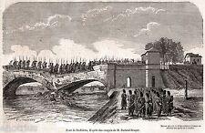 PONTE DI BOFFALORA SOPRA TICINO. Lombardo-Veneto.Risorgimento.Stampa Antica.1859