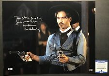 WOW Val Kilmer DOC HOLLIDAY TOMBSTONE Signed 16x20 Photo #3 Cool Inscription BAS