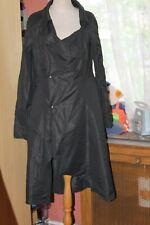 SARAH PACINI  Superbe  manteau noir  asymétrique Taille 2     TRÈS ORIGINALE   !