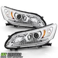 For 2013-2015 Honda Accord Sedan Halogen w/o DRL Headlights Headlamps Left+Right