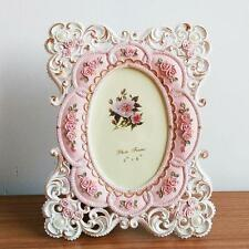 Pink Rose Flower Home Decor Photo Frame Picture Frame Resin Retro 6'' x 4''