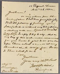 1832   rare ALS letter George Baird   Scottish minister reformer friend of burns