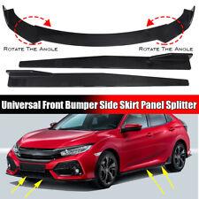 For Honda Civic 10th Gen 2019-2020 Front Bumper Lip Spoiler Splitter+ Side