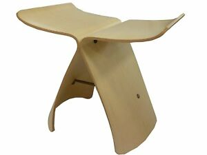 Sori Yanagi Butterfly Stool Maple S-0521 MP-NT Tendo Mokko Chair JAPAN New