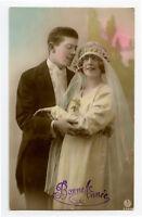1920s French Glamour Glamor PRETTY BRIDE Flapper Lady Deco photo postcard