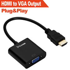 HDMI to VGA Output HD1080p Gold-plated TV AV HDTV Video Cable Converter Adapter