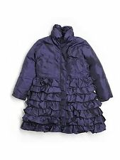 Girl Lemon Loves Lime Purple Down Ruffle Winter Holliday Dress Coat Size 5 Years