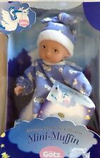 "GOTZ BABY DOLL 8""  GIRL  AGE 3+ NRFB PAINTED HAIR  BLUE AND WHITE OUTFIT"