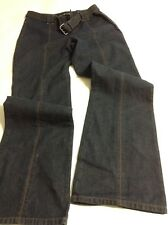 DKNY Dark Wash Jeans Denim Trouser Jeans Flair Bottom With Belt Size 8