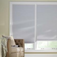 Home Decorators Shadow White 9/16 in. Blackout Cordless Shade 23 x 48