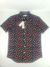 Original Penguin Mens Button Down Shirt Short Sleeve Gift Box Print Size S