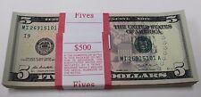2013 New Uncirculated Five 5  Dollar Bills Pack Minneapolis I Pack Strap MI-A