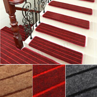 1-13X Non Slip Rectangle Stair Tread Carpet Mats Step Rug Protection Cover Pads