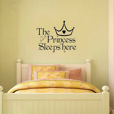 GREAT Princess Removable Wall Sticker Girls Bedroom Decor Baby Room Decal Art
