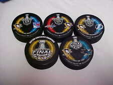 2016 NHL Stanley Cup Playoffs Pittsburgh Penguins Hockey Five Puck Souvenir Pack