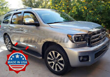 "fit:2008-2018 Toyota Sequoia 4Pc Flat Body Side Molding Trim 1 1/2"" Stainless"