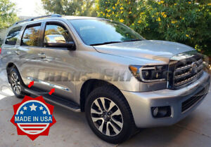"""fit:2008-2021 Toyota Sequoia Stainless Flat Body Side Molding Trim 1 1/2"""" 4Pc"""